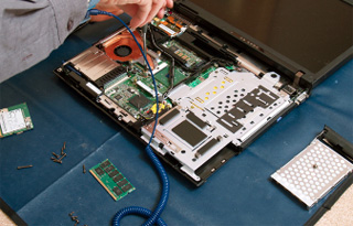 picture of laptop repair in progress